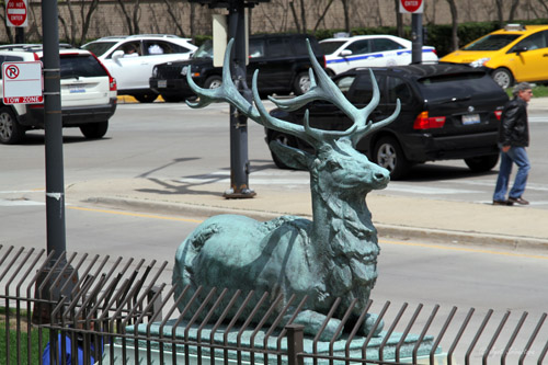 Reclining Elks - by Laura Gardin Fraser