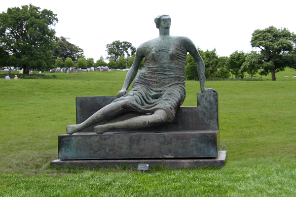 Draped Seated Woman – by Henry Moore