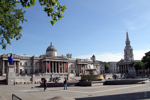 Trafalgar Square: Where are the pigeons?