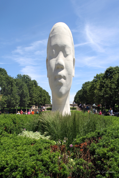 Looking into My Dreams Awild - by Jaume Plensa at Madison Square entrance, Millennium Park