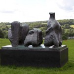 Three Piece Reclining Figure - by Henry Moore