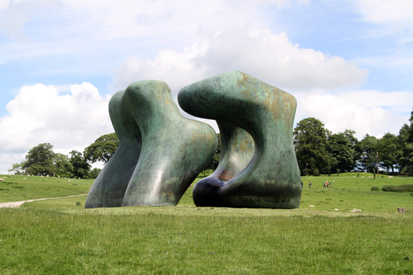 Two Large Forms – by Henry Moore