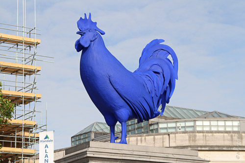Hahn / Cock – by Katherina Fritsch  Temporary Exhibit at Trafalgar Square