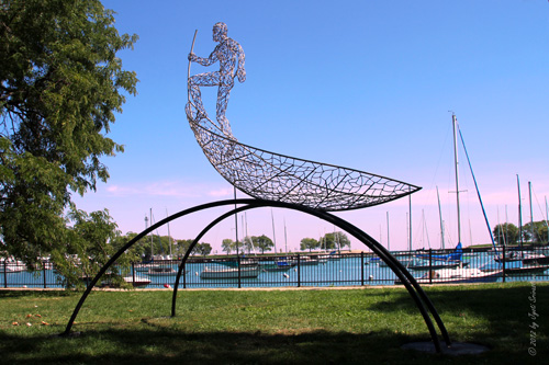 Confluence - By Boyan Marinov at Belmont Harbor, as part of Sculpture Now, 2012