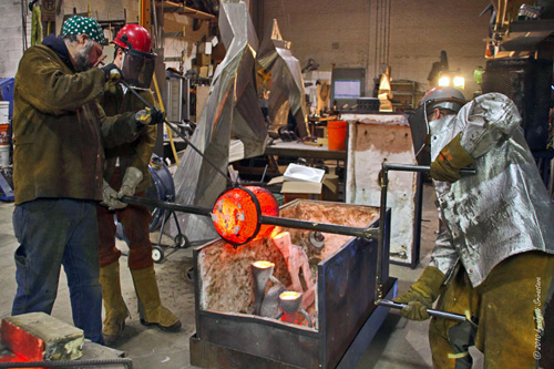Metal Pour - Eric Stephenson and Marshall Svendsen