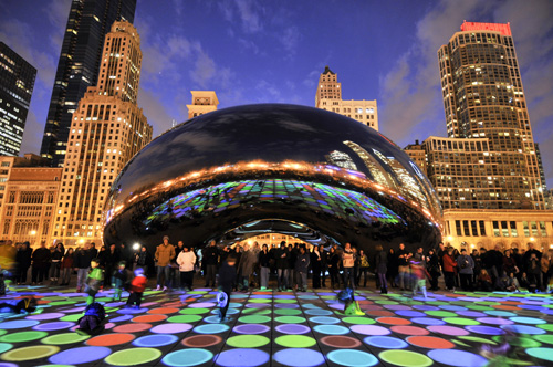 Luminous Field [2012] - by Luftwerk at AT&T Plaza, Millennium Park.