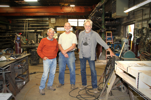 Co-founders of Vector Custom Fabricating: Steve Mueller, Barry Hehemann and Mike Wilkie