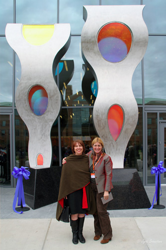 Capital Development Board Art-In-Architecture Coordinator Linda Norbut Suits with Nicole Beck
