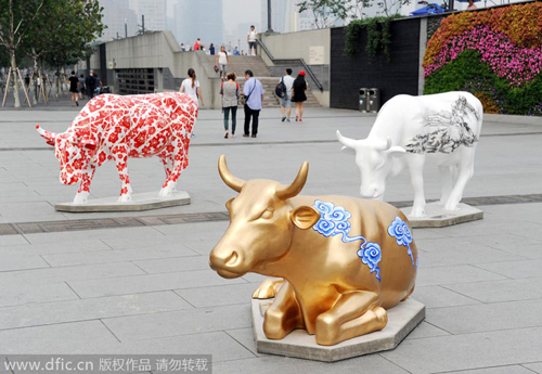 Cow Parade, Shanghai, China [2014] / Image Courtesy chinadaily.com.cn