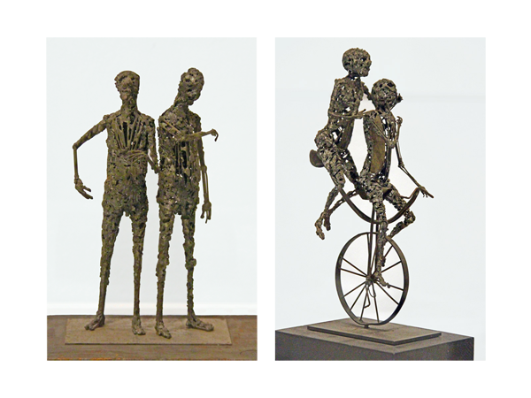 Left: Two Figure Standing [1954] and Right: Unicycle Built for Two [1955]