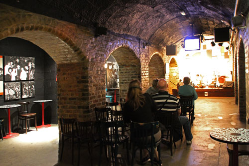 The Cavern, Mathew Street, Liverpool./ Recreated in the museum.