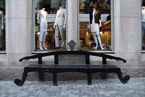 Bench in Mathew Street