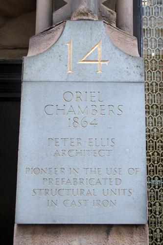 Oriel Chambers [1864] - Peter Ellis