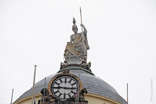 Town Hall - Clock and Minerva