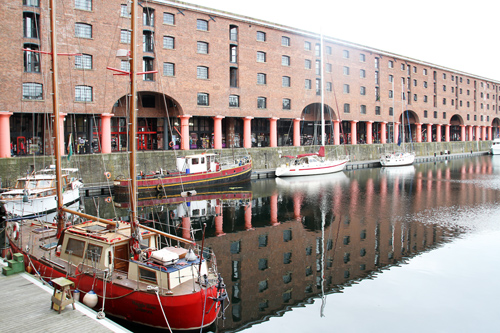 Albert Dock warehouses [grade I listed building], Liverpool.