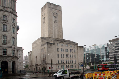 George's Dock Tunnel Ventilation building [grade II listed building], Liverpool.