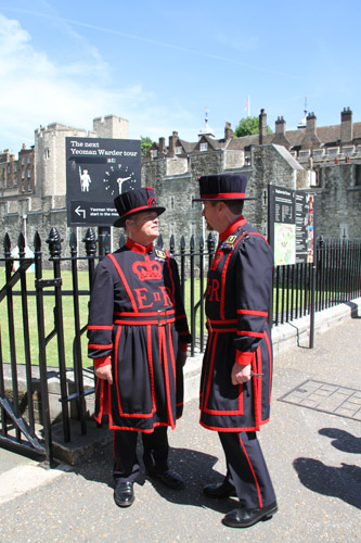Tower of London - Yeoman Warders, nicknamed as Beefeaters