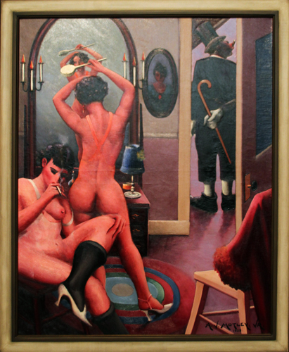 Between Acts [1935] - by Archibald Motley / Collection of Terra Foundation for American Art, Chicago, Illinois.