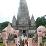 Mahabodhi Temple Complex, Bodh Gaya, Bihar, India.