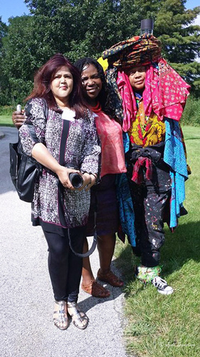 With Chakaia Brooker and Tracie Hall
