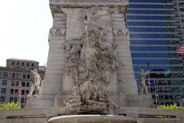 Indianapolis: Soldiers and Sailors Monument / East side: War and The Dying Soldier