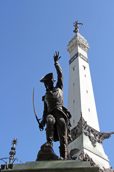 Indianapolis: Soldiers and Sailors Monument / George Rogers Clark - by John H. Mahoney