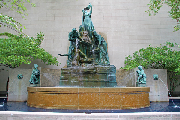 Fountain of the Great Lakes - by Lorado taft at AIC, Chicago