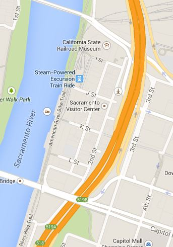 Google Map: Old Sacramento Historic District
