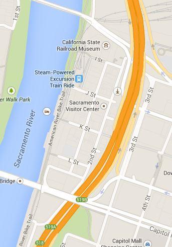 Google Map: Old Sacramento Historic District