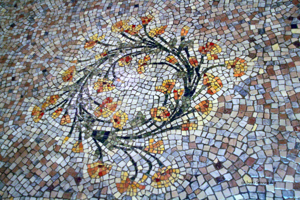 California Golden Poppy Mosaic Floors / California State Capitol