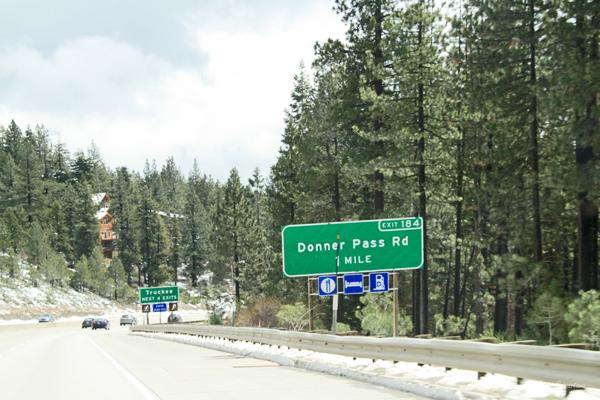 Donner Pass Rd - 1 mile / Lake Tahoe