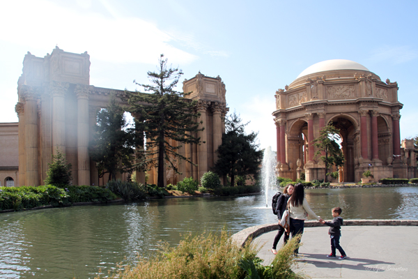 Artificial lagoon, Landscaping, Rotunda & Pergola - Palace of Fine Arts, San Francisco