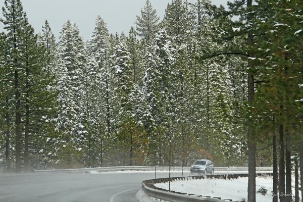 Sierra Nevada mountain ranges to Lake Tahoe