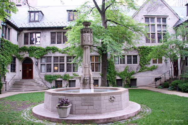 Courtyard, Parish and Children's Fountain - Fourth Presbyterian Church