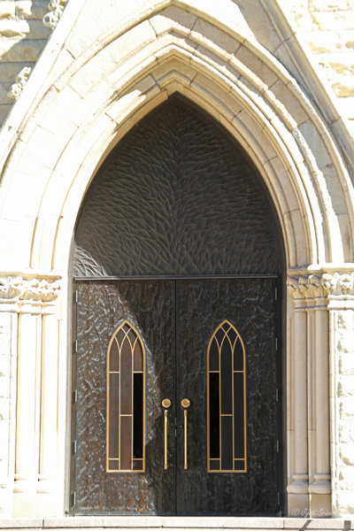 Bronze door with Tree of Life motif / Holy Name Cathedral