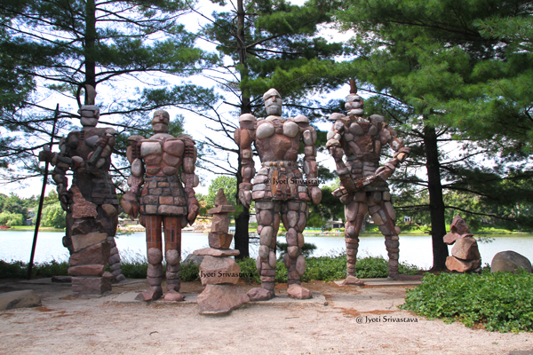 Rock Men Guardians - by Terese Agnew