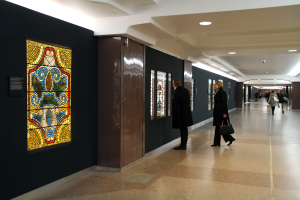 American Victorian Stained Glass Window installations on Macy's
