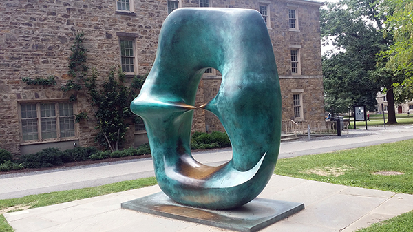 Oval with Point - by Henry Moore