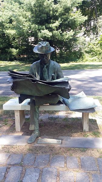 Newspaper Reader - by J. Seward Johnson