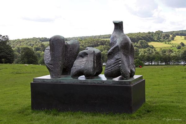 Three Piece Reclining Figure – by Henry Moore