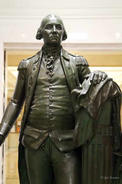 George Washington - by Jean-Antoine Houdon