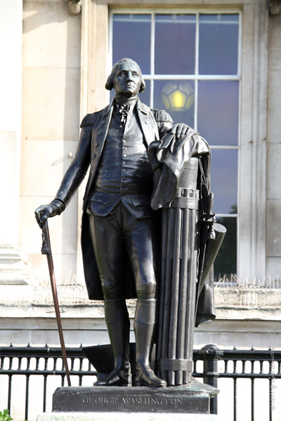 George Washington - by Jean-Antoine Houdon in London, UK