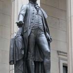 George Washington - by John Quincy Adams Ward in New York, NY.