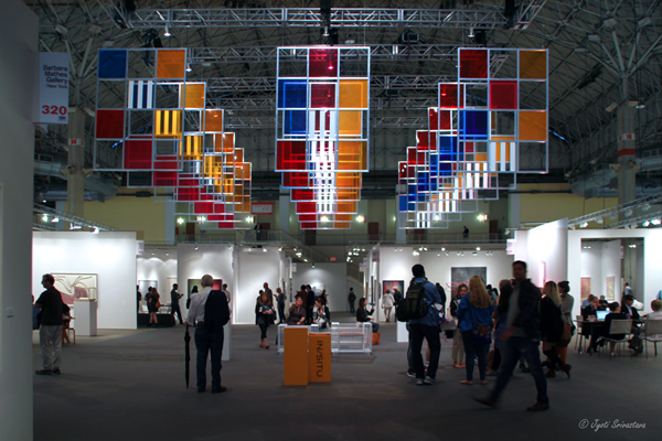 From 3 wndows, 5 colors for 252 places [2006] - by Daniel Buren