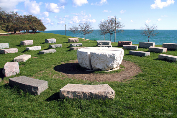 America's Courtyard – by Denise Milan and Ary Perez / Adler Planetarium: