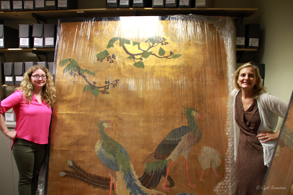 Japanese sliding door paintings from 1893 World's Fair