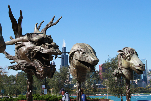 Zodiac Heads – by Ai Weiwei, at Adler Planetarium plaza
