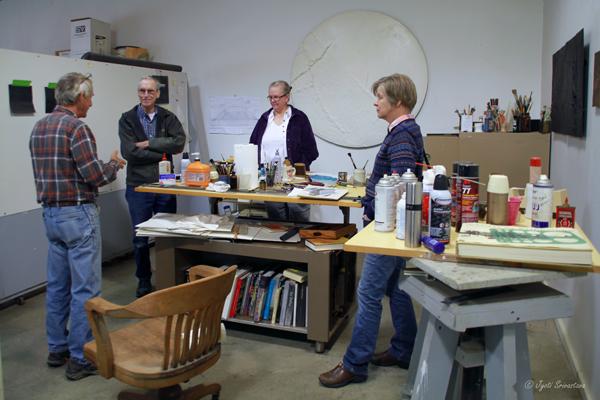 Studio Visit: Cecilia Allen & Roger Blakley  with Debbie and Steve Mueller