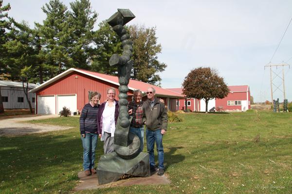 From left: Debbie Mueller, Cecilia Allen, Steve Mueller and Roger Blakley