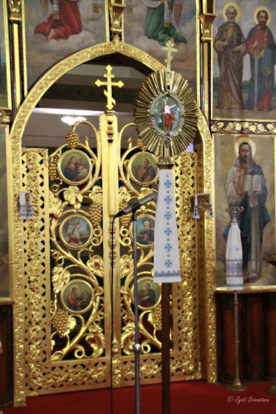 Iconostasis: Royal doors/ beautiful doors: St. Volodymyr Ukrainian Orthodox Cathedral